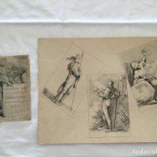 Arte: ANTONIO MAFFEI ROSAL. DIBUJOS ORIGINALES DEL BLOC DEL PINTOR. 1840.. Lote 137211814