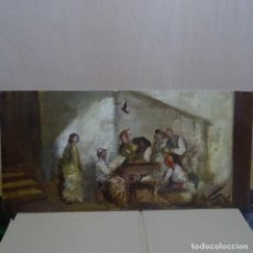 Arte: ÓLEO SOBRE TABLA CÍRCULO LUCAS VELÁZQUEZ-VILLAMIL.SEGUIDOR DE LA ESCUELA DE GOYA.. Lote 137254426