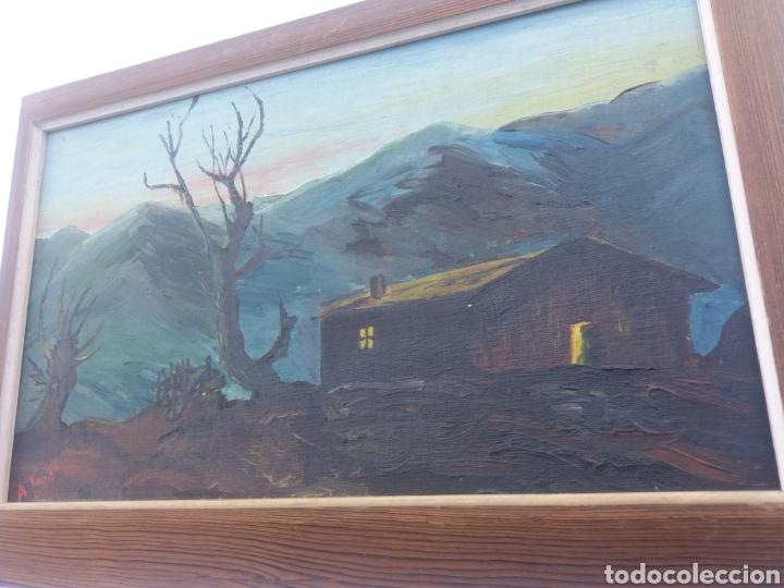 Arte: Pareja cuadro antiguo de pintura a mano sobre tabla firmados con marco madera Gitanos viajeros - Foto 4 - 137278185