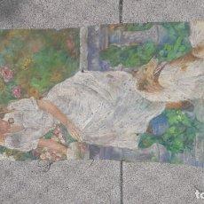 Arte: OLEO SOBRE LIENZO FIRMADO BLAS GALLEGO GRAN OBRA DE ARTE REGULAR ESTADO. Lote 137310262