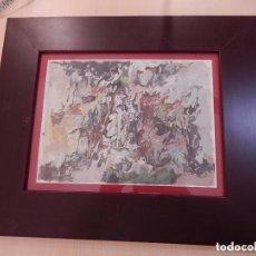 Arte: ÓLEO SOBRE PAPEL DE JOHN ULBRITCH (1926-2006), AFINCADO EN MALLORCA. Lote 137323674