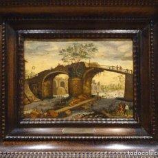 Arte: GRAN OBRA DE ARTE, PINTURA AL OLEO SOBRE LIENZO DE WILLEM II VAN NIEULANDT(1584-1635 / 36)SOBRE 1620. Lote 137334782