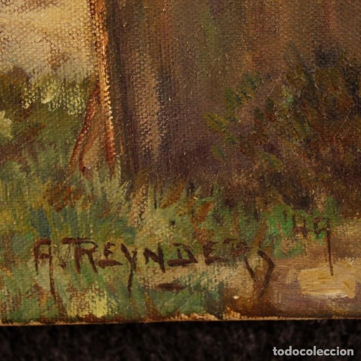 Arte: Pintura al óleo sobre lienzo con paisaje del siglo XX - Foto 3 - 137336674