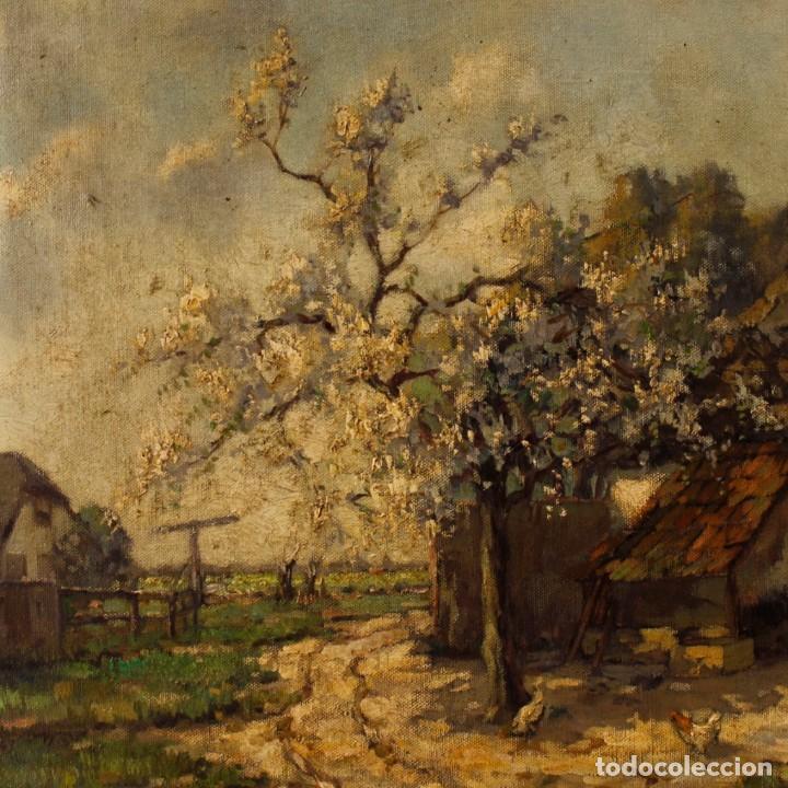 Arte: Pintura al óleo sobre lienzo con paisaje del siglo XX - Foto 4 - 137336674