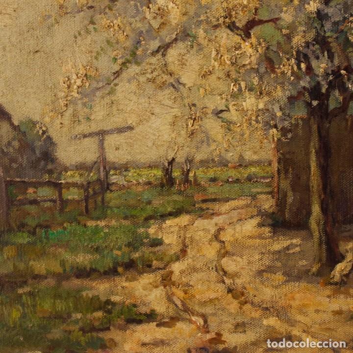 Arte: Pintura al óleo sobre lienzo con paisaje del siglo XX - Foto 7 - 137336674