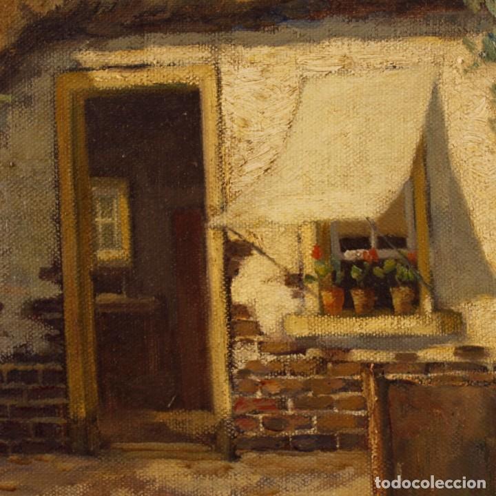Arte: Pintura al óleo sobre lienzo con paisaje del siglo XX - Foto 8 - 137336674