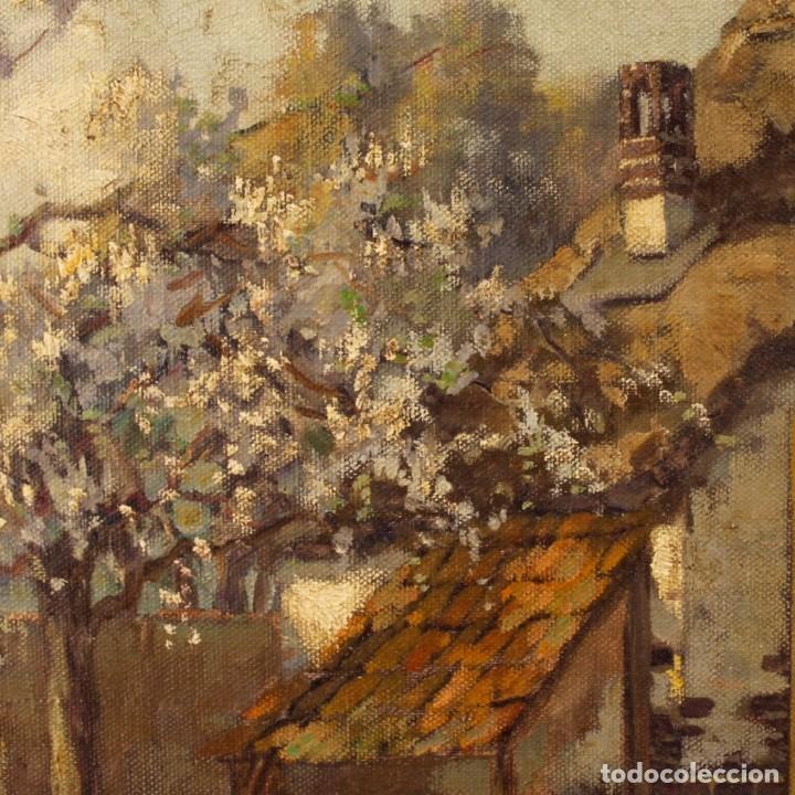 Arte: Pintura al óleo sobre lienzo con paisaje del siglo XX - Foto 9 - 137336674
