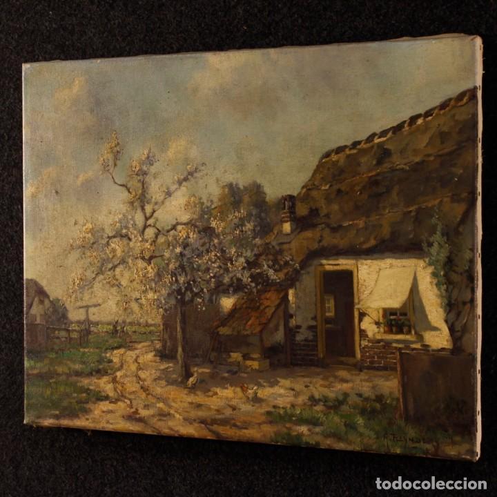 Arte: Pintura al óleo sobre lienzo con paisaje del siglo XX - Foto 10 - 137336674