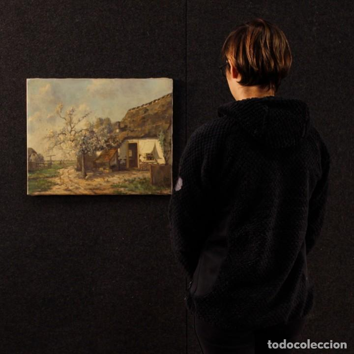 Arte: Pintura al óleo sobre lienzo con paisaje del siglo XX - Foto 12 - 137336674
