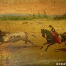 Arte: OLEO SOBRE TABLA ESCENA GOYESCA...FIRMADO POR EL PRESTIGIOSO PINTOR...VILLASANTE...SIGLO XIX.. Lote 137421230