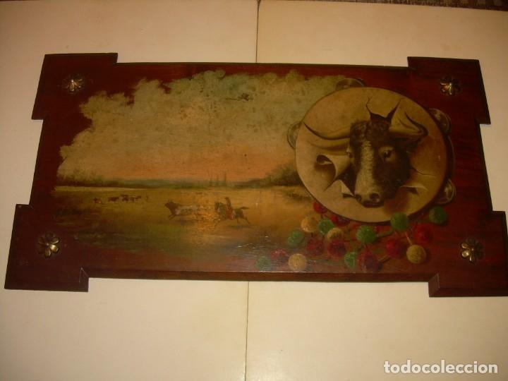 Arte: OLEO SOBRE TABLA ESCENA GOYESCA...FIRMADO POR EL PRESTIGIOSO PINTOR...VILLASANTE...SIGLO XIX. - Foto 2 - 137421230