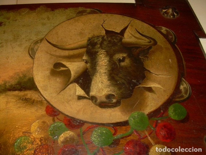 Arte: OLEO SOBRE TABLA ESCENA GOYESCA...FIRMADO POR EL PRESTIGIOSO PINTOR...VILLASANTE...SIGLO XIX. - Foto 4 - 137421230
