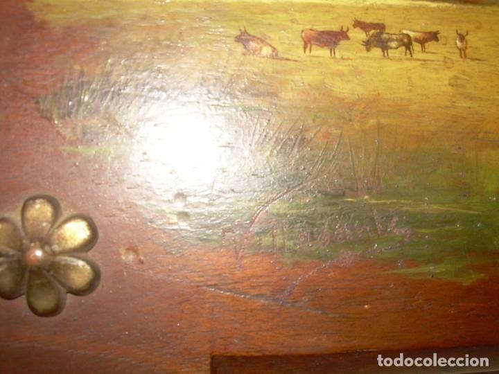 Arte: OLEO SOBRE TABLA ESCENA GOYESCA...FIRMADO POR EL PRESTIGIOSO PINTOR...VILLASANTE...SIGLO XIX. - Foto 6 - 137421230