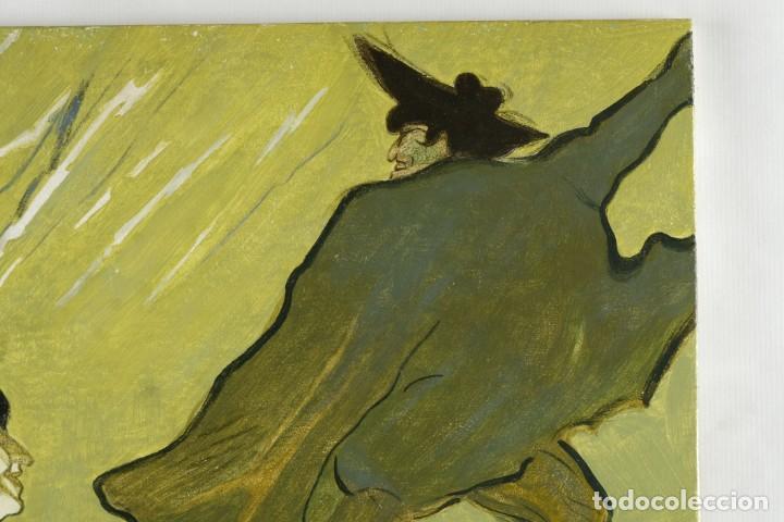 Arte: Óleo sobre táblex copia de un cuadro de Toulouse Lautrec ThéAâtre Antoine La Gitane de Richepin S.XX - Foto 4 - 137437002