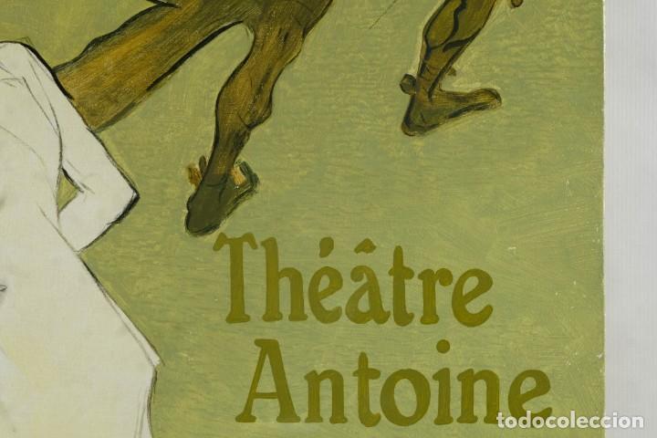 Arte: Óleo sobre táblex copia de un cuadro de Toulouse Lautrec ThéAâtre Antoine La Gitane de Richepin S.XX - Foto 5 - 137437002