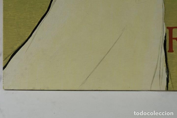Arte: Óleo sobre táblex copia de un cuadro de Toulouse Lautrec ThéAâtre Antoine La Gitane de Richepin S.XX - Foto 7 - 137437002