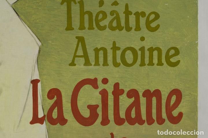 Arte: Óleo sobre táblex copia de un cuadro de Toulouse Lautrec ThéAâtre Antoine La Gitane de Richepin S.XX - Foto 8 - 137437002