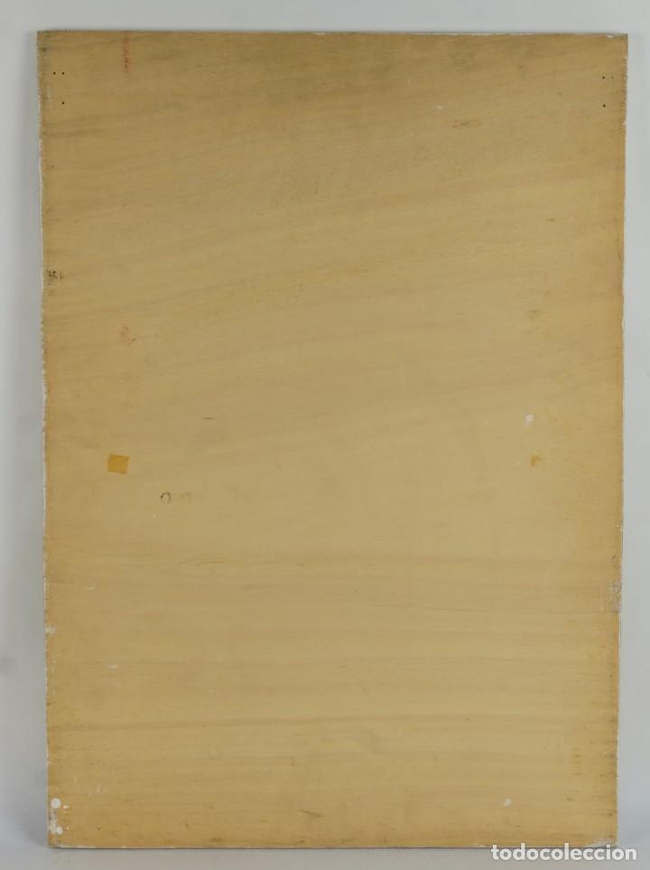 Arte: Óleo sobre táblex copia de un cuadro de Toulouse Lautrec ThéAâtre Antoine La Gitane de Richepin S.XX - Foto 10 - 137437002