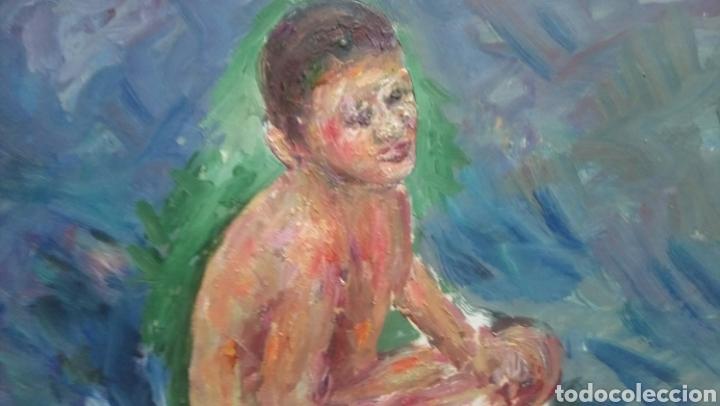 Arte: Niño en la playa (gran calidad) - Foto 2 - 137498446