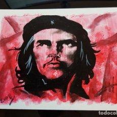 Arte: CUBA CHE GUEVARA PEQUEÑA PINTURA EN CARTULINA (1). Lote 137535670