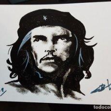 Arte: CUBA CHE GUEVARA PEQUEÑA PINTURA EN CARTULINA (2). Lote 137535770