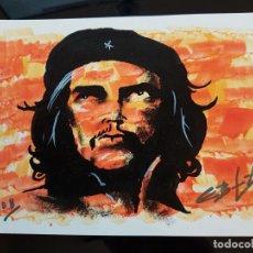 Arte: CUBA CHE GUEVARA PEQUEÑA PINTURA EN CARTULINA (3). Lote 137535854