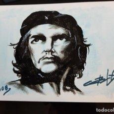 Arte: CUBA CHE GUEVARA PEQUEÑA PINTURA EN CARTULINA (4). Lote 137535958