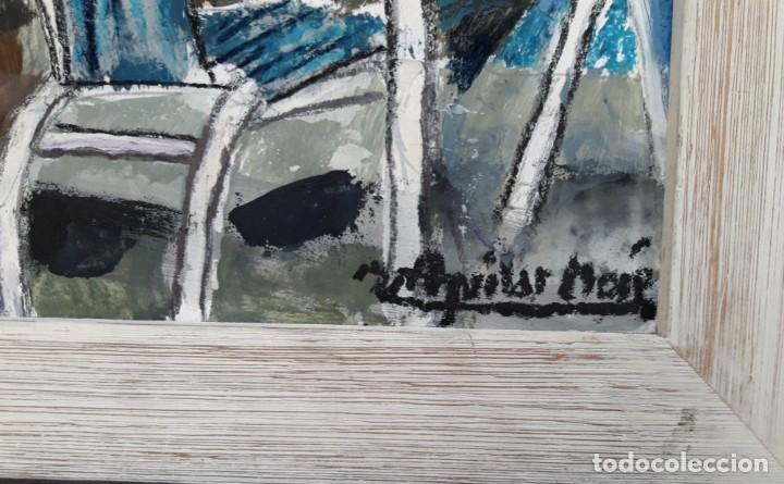 Arte: Ramón Aguilar Moré - Terraza de Cadaqués - Óleo - Foto 3 - 137536426