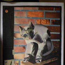 Arte: GATO COLLAGE. Lote 137537922