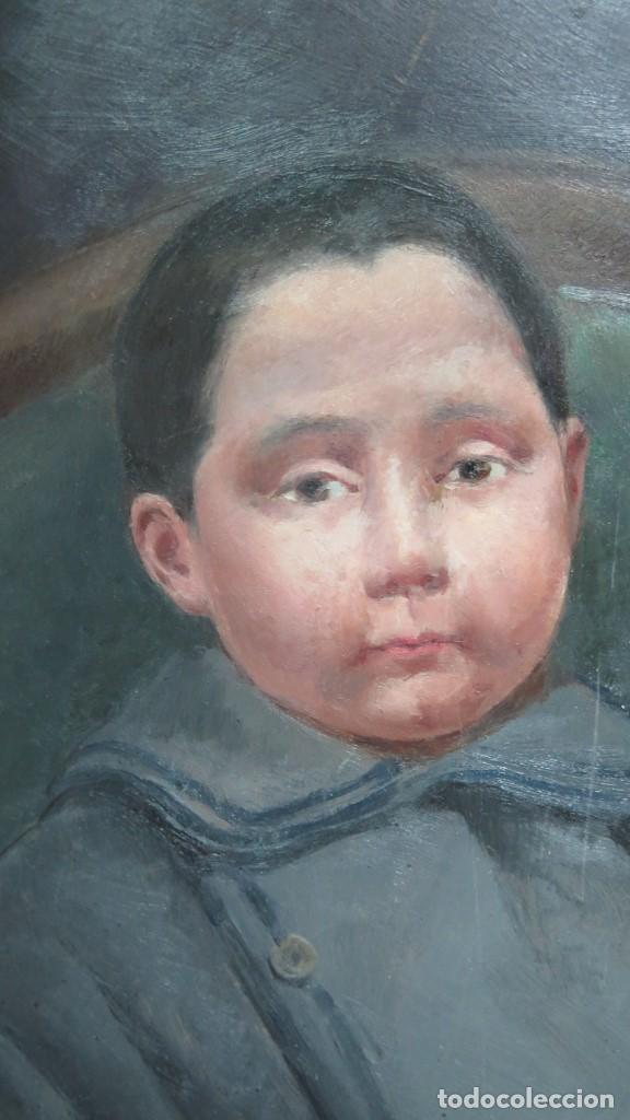 Arte: BONITO RETRATO DE NIÑO. OLEO S/ TABLA. A LA MANERA DEL SIGLO XIX - Foto 2 - 137546358
