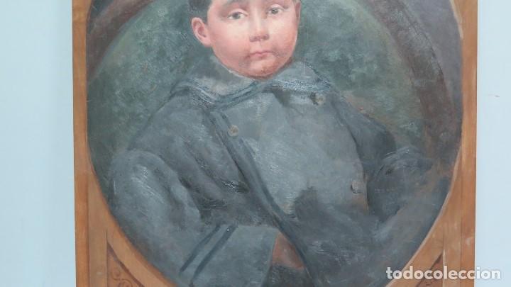 Arte: BONITO RETRATO DE NIÑO. OLEO S/ TABLA. A LA MANERA DEL SIGLO XIX - Foto 3 - 137546358