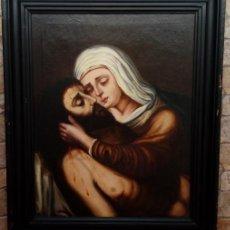 Arte: ÓLEO S/LIENZO -PIEDAD-, ESCUELA ITALIANA S. XVII. MUY BIEN ENMARCADO. DIM.- 101X82 CMS.. Lote 137570614