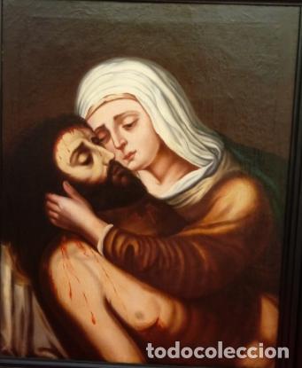 Arte: ÓLEO S/LIENZO -PIEDAD-, ESCUELA ITALIANA S. XVII. MUY BIEN ENMARCADO. DIM.- 101X82 CMS. - Foto 2 - 137570614