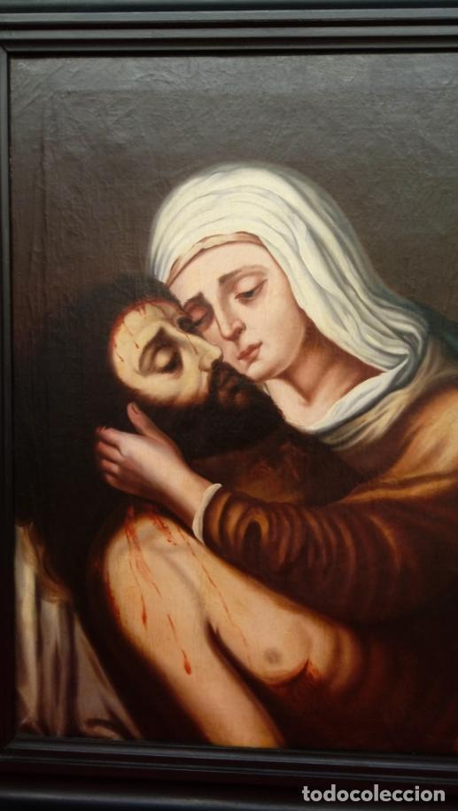 Arte: ÓLEO S/LIENZO -PIEDAD-, ESCUELA ITALIANA S. XVII. MUY BIEN ENMARCADO. DIM.- 101X82 CMS. - Foto 4 - 137570614