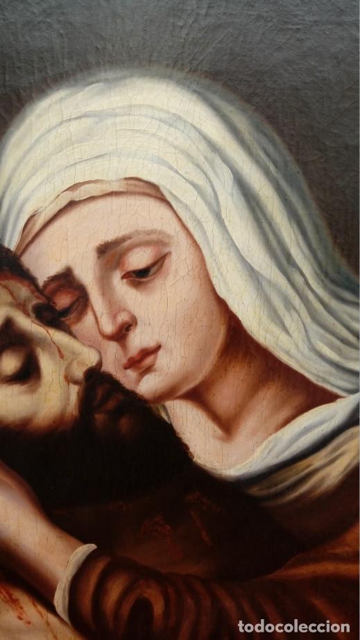 Arte: ÓLEO S/LIENZO -PIEDAD-, ESCUELA ITALIANA S. XVII. MUY BIEN ENMARCADO. DIM.- 101X82 CMS. - Foto 5 - 137570614
