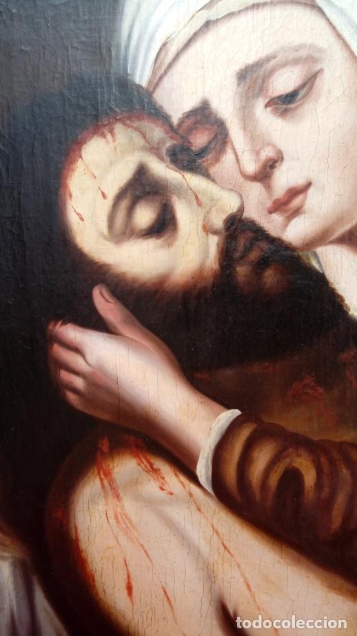Arte: ÓLEO S/LIENZO -PIEDAD-, ESCUELA ITALIANA S. XVII. MUY BIEN ENMARCADO. DIM.- 101X82 CMS. - Foto 7 - 137570614
