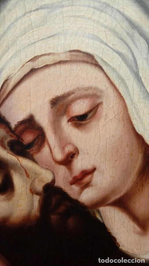 Arte: ÓLEO S/LIENZO -PIEDAD-, ESCUELA ITALIANA S. XVII. MUY BIEN ENMARCADO. DIM.- 101X82 CMS. - Foto 8 - 137570614