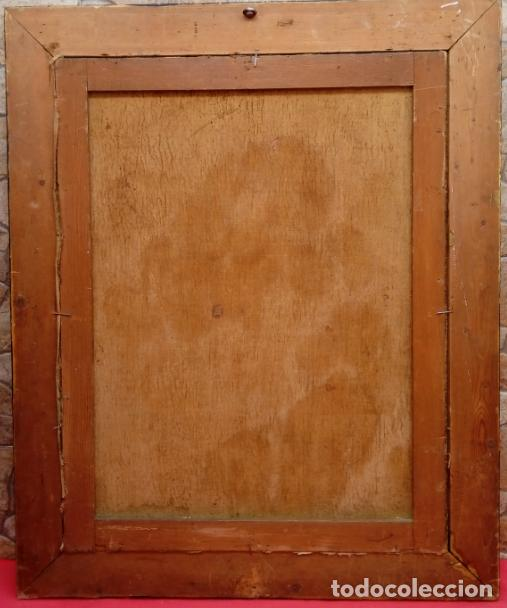 Arte: ÓLEO S/LIENZO -PIEDAD-, ESCUELA ITALIANA S. XVII. MUY BIEN ENMARCADO. DIM.- 101X82 CMS. - Foto 10 - 137570614