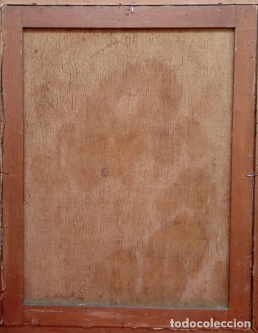 Arte: ÓLEO S/LIENZO -PIEDAD-, ESCUELA ITALIANA S. XVII. MUY BIEN ENMARCADO. DIM.- 101X82 CMS. - Foto 11 - 137570614