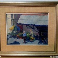 Arte: OLEO FIRMADO VILALTA ( MERCADO CENTRAL DE SABADELL).. Lote 137577064