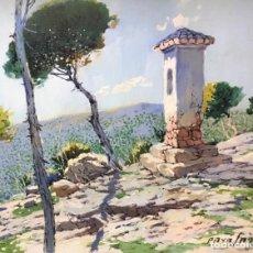 Arte: PAISAJE POR PAYÁ SANCHÍS (VALENCIA 1892- OLOCAU 1977). Lote 137587454