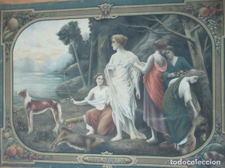 Arte: Óleo sobre Tela - Diana Cazadora - Escena Clásica - 180 cm Ancho, 133,5 Altura - S. XIX - Foto 2 - 137610538