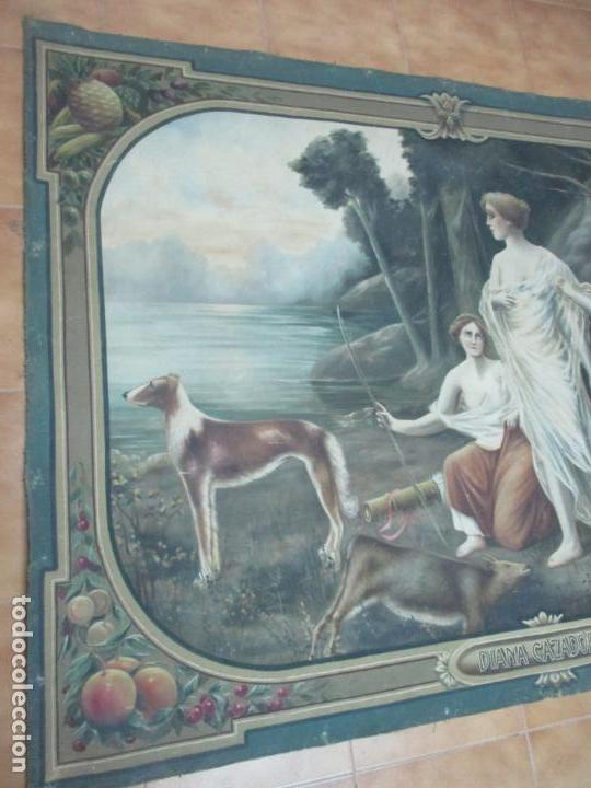 Arte: Óleo sobre Tela - Diana Cazadora - Escena Clásica - 180 cm Ancho, 133,5 Altura - S. XIX - Foto 3 - 137610538
