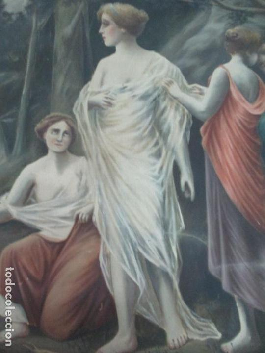 Arte: Óleo sobre Tela - Diana Cazadora - Escena Clásica - 180 cm Ancho, 133,5 Altura - S. XIX - Foto 6 - 137610538