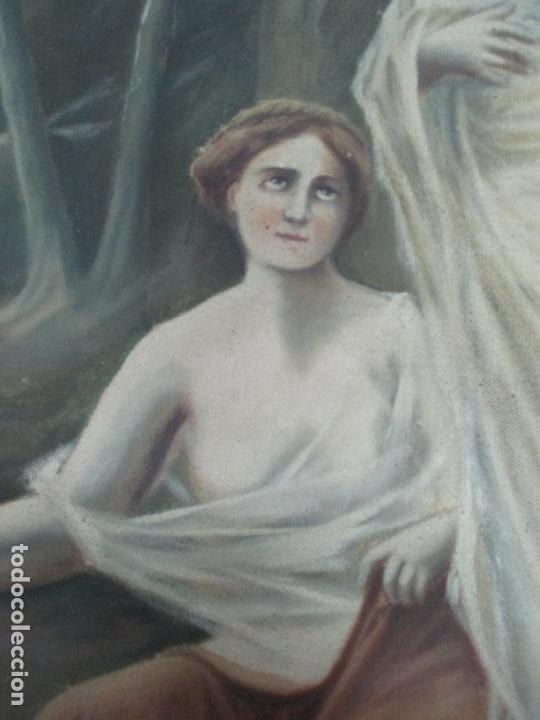 Arte: Óleo sobre Tela - Diana Cazadora - Escena Clásica - 180 cm Ancho, 133,5 Altura - S. XIX - Foto 8 - 137610538