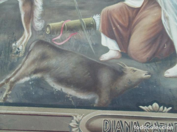 Arte: Óleo sobre Tela - Diana Cazadora - Escena Clásica - 180 cm Ancho, 133,5 Altura - S. XIX - Foto 9 - 137610538