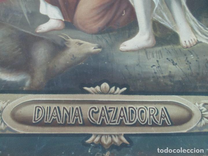 Arte: Óleo sobre Tela - Diana Cazadora - Escena Clásica - 180 cm Ancho, 133,5 Altura - S. XIX - Foto 10 - 137610538