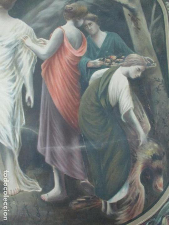 Arte: Óleo sobre Tela - Diana Cazadora - Escena Clásica - 180 cm Ancho, 133,5 Altura - S. XIX - Foto 11 - 137610538