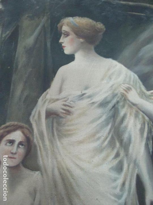 Arte: Óleo sobre Tela - Diana Cazadora - Escena Clásica - 180 cm Ancho, 133,5 Altura - S. XIX - Foto 12 - 137610538