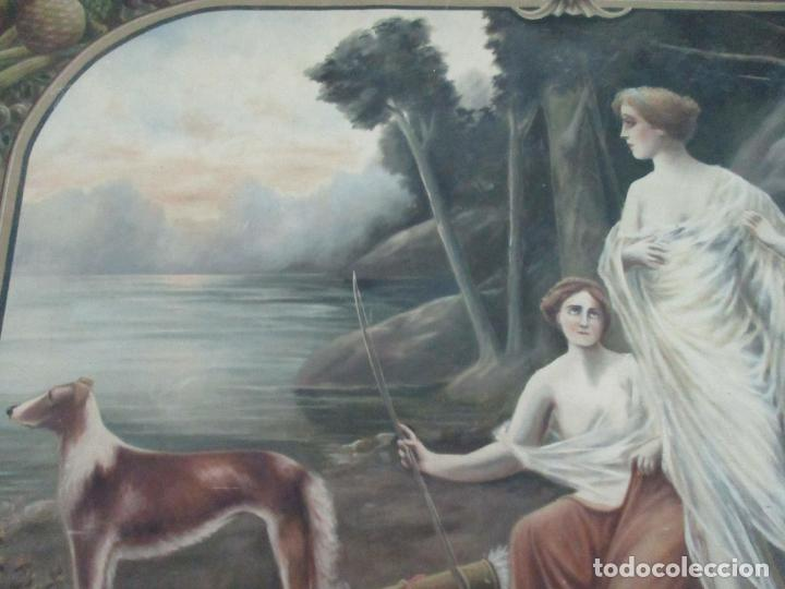 Arte: Óleo sobre Tela - Diana Cazadora - Escena Clásica - 180 cm Ancho, 133,5 Altura - S. XIX - Foto 13 - 137610538